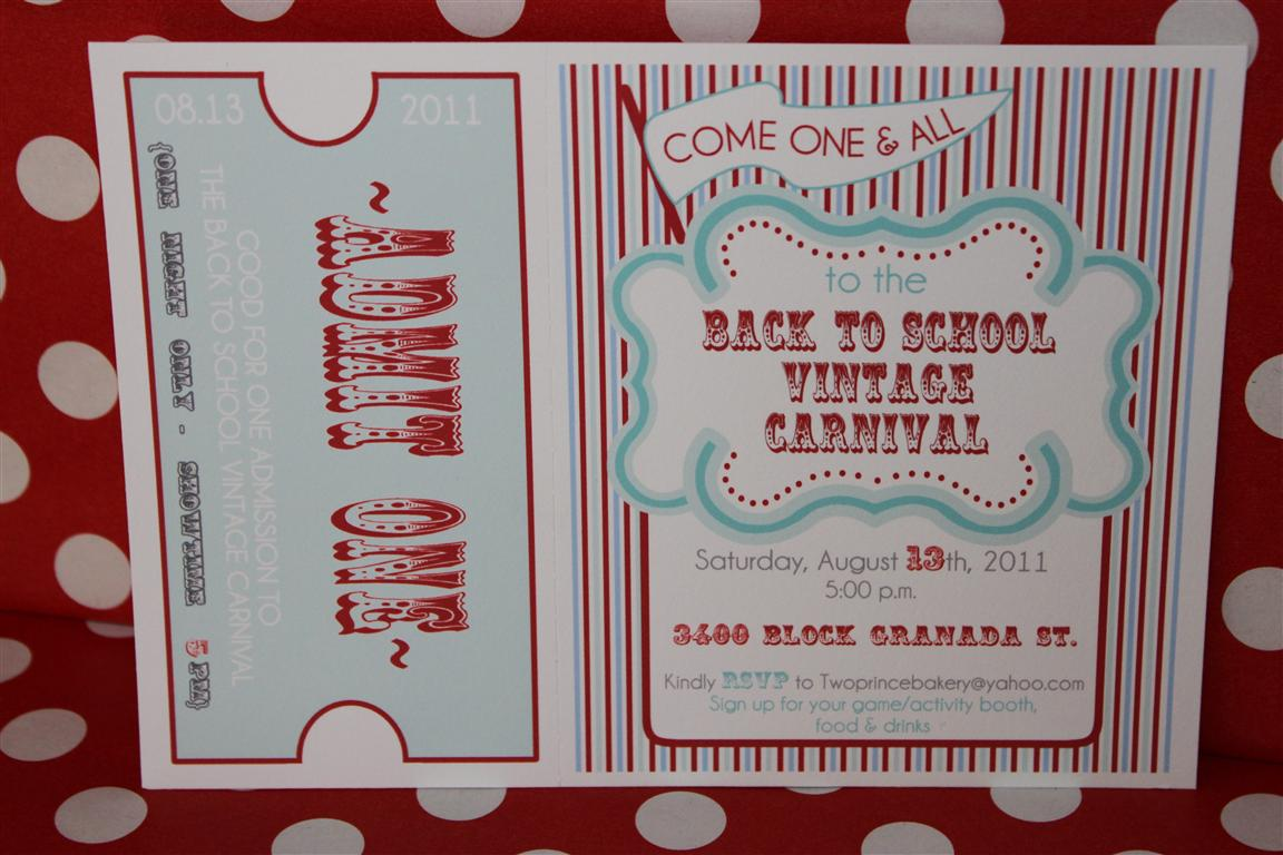 Vintage Carnival Invitations Template