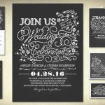 Vintage Chalkboard Wedding Shower Invitations