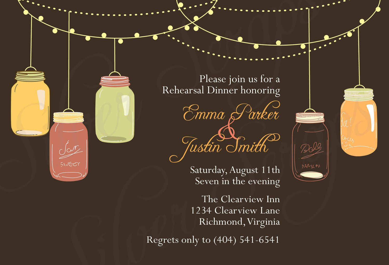 Vintage Dinner Party Invitations