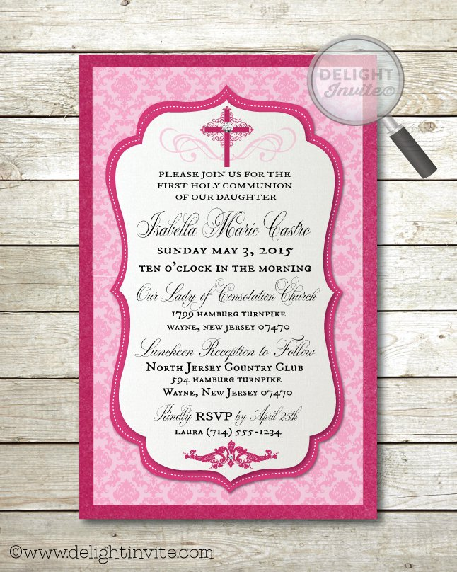 Vintage First Holy Communion Invitations