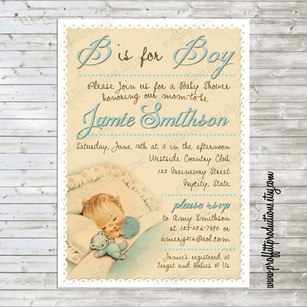Vintage Girl Party Invitations