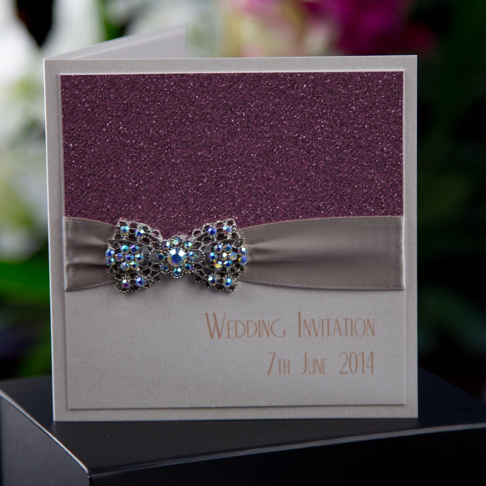 Vintage Glam Wedding Invitations Uk