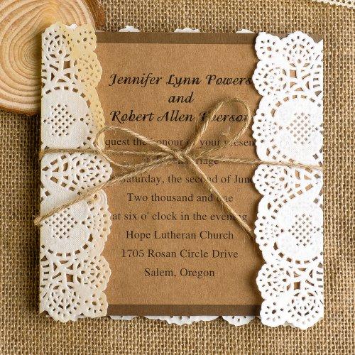 Vintage Lace Printable Wedding Invitations
