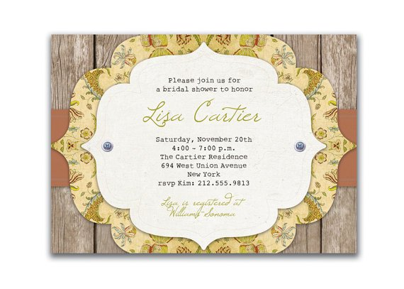 Vintage Wallpaper Wedding Invitations