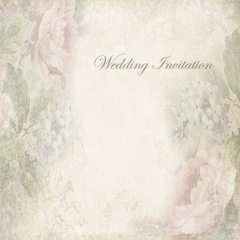 Vintage Wedding Invitation Background