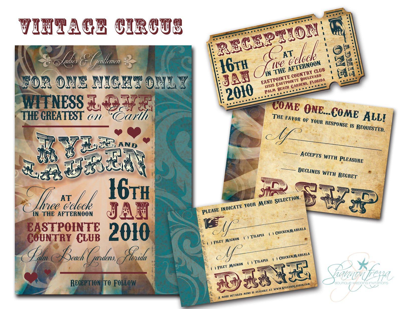 Vintage Wedding Invitation Templates Free Download