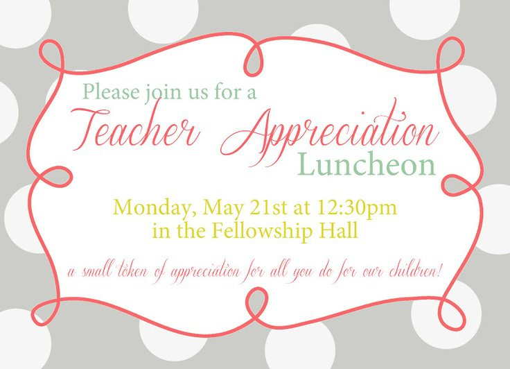 Volunteer Appreciation Luncheon Invitation Template