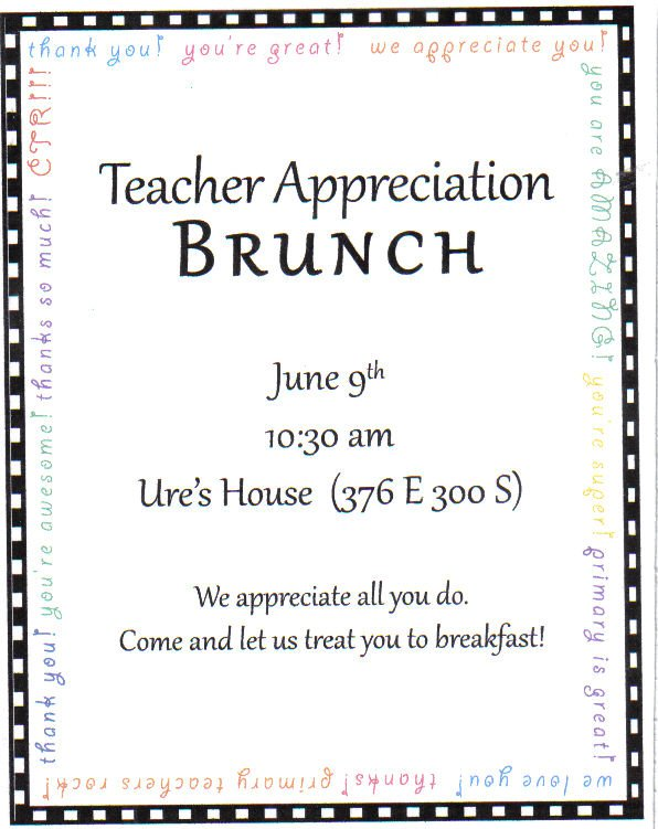 Volunteer Appreciation Party Invitation Wording