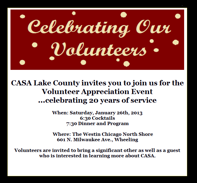 Volunteer Recognition Invitation Wording