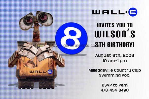 Wall-e Birthday Invitations