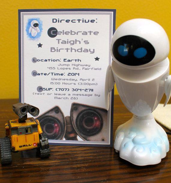 Wall-e Party Invitations