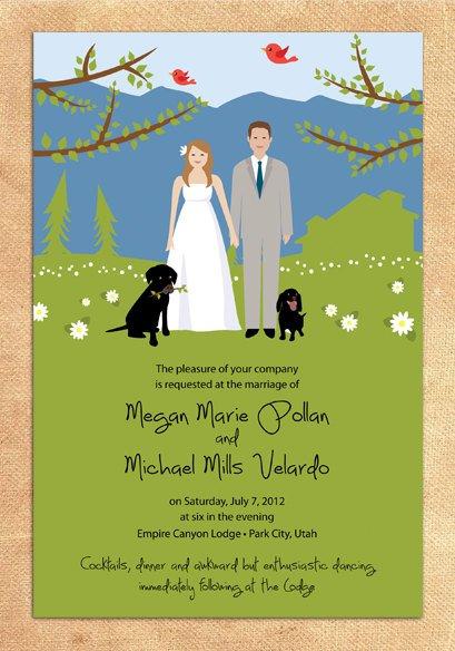 Wallpaper Wedding Invitations
