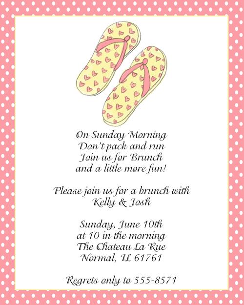 Wedding Luncheon Invitation Wording