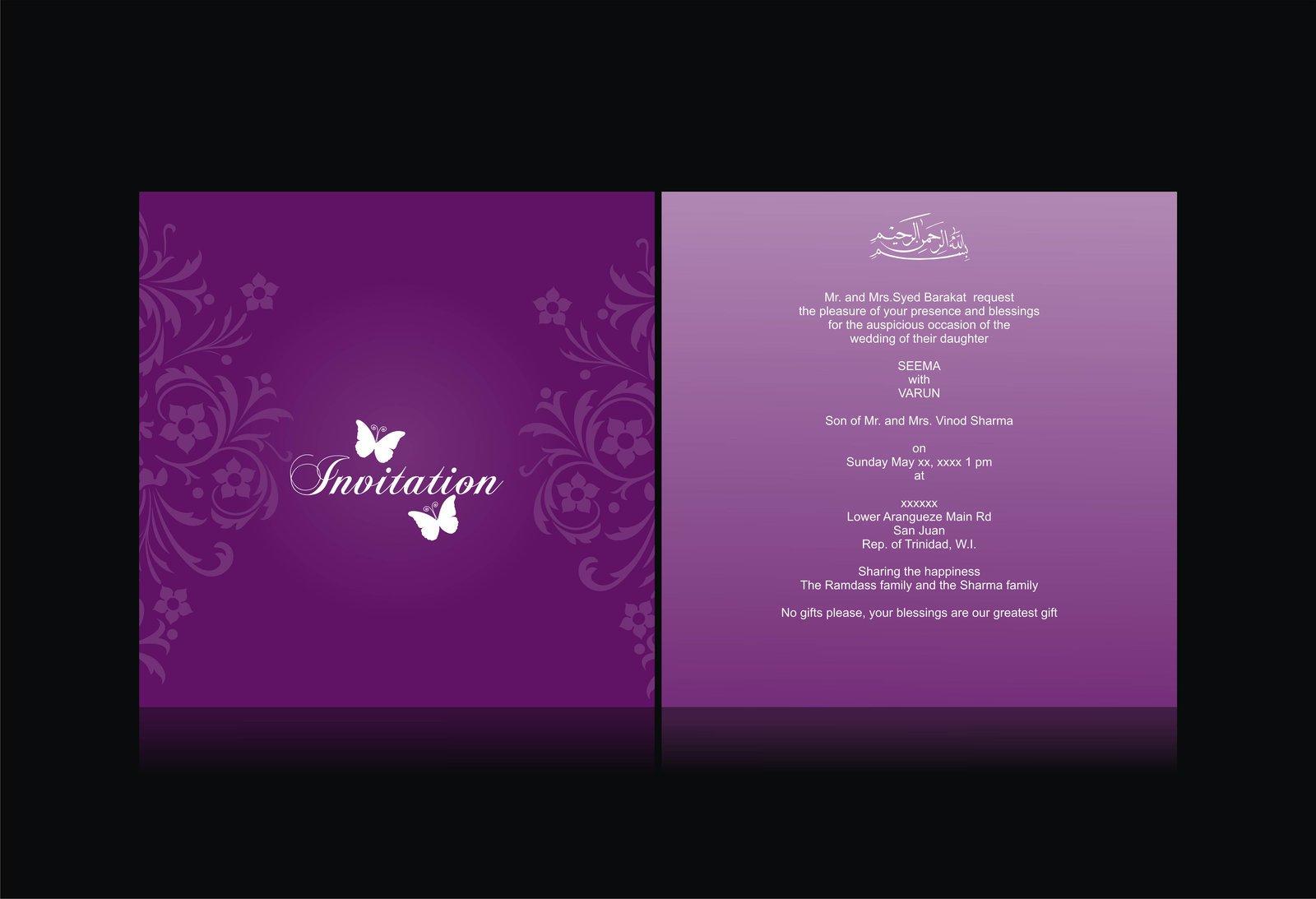 Wedding Invitation Card Design Template Free Download