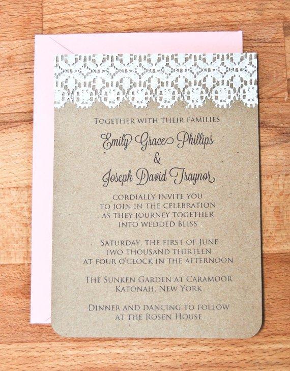 Wedding Invitation Cardstock And Envelopes