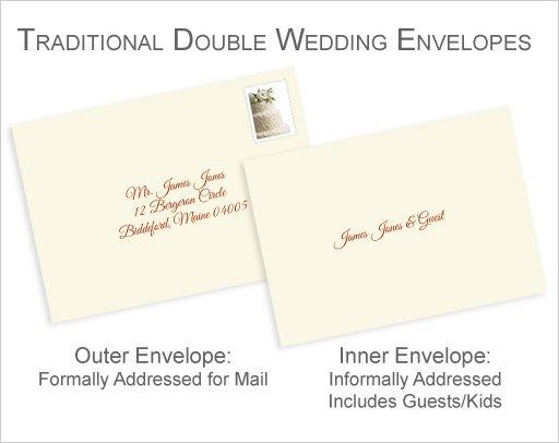 Wedding Invitation Envelope Etiquette No Inner Envelope