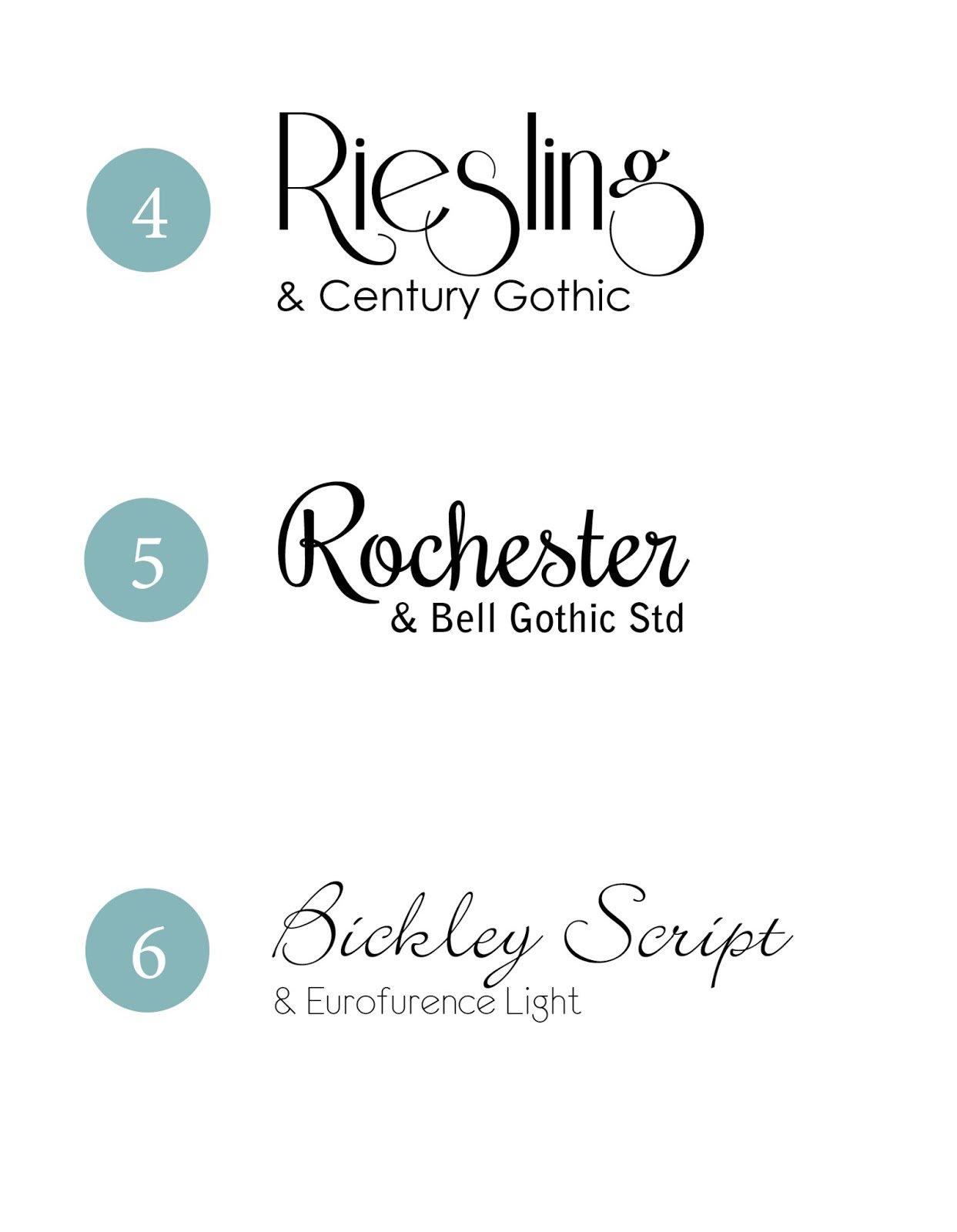 Wedding Invitation Font Combinations