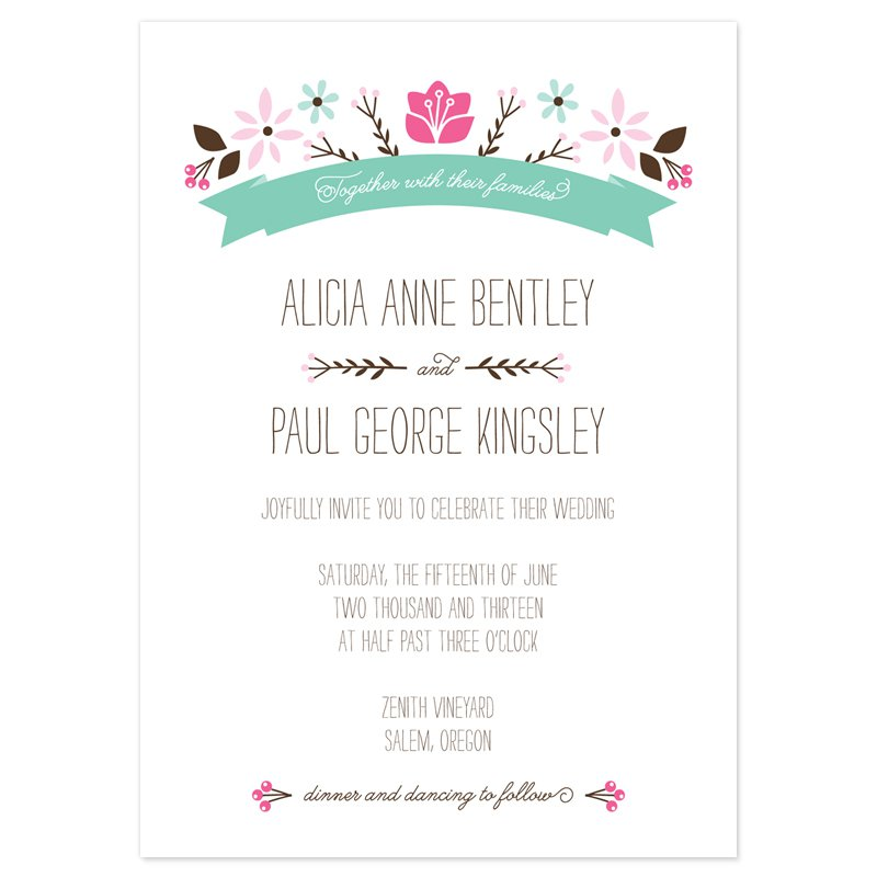 Wedding Invitation Format Free