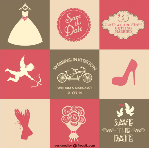 Wedding Invitation Parts