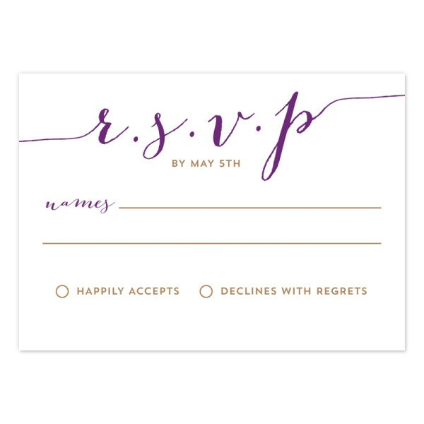 Wedding Invitation Rsvp Card Size