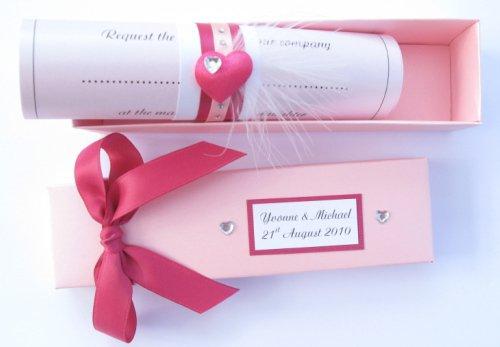 Wedding Invitation Scroll Boxes