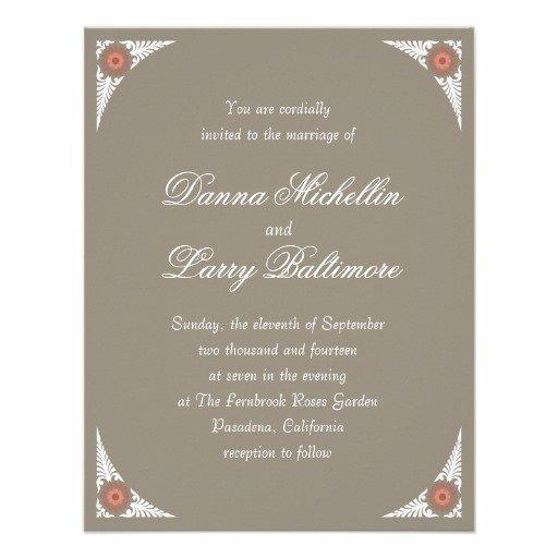 Wedding Invitation Sizes Standard