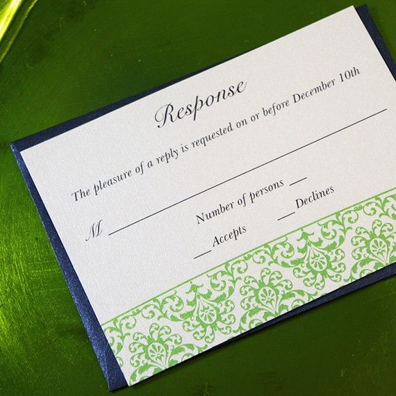 Wedding Invitation Suite With Ribbon