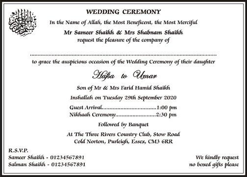 Wedding Invitation Text Examples
