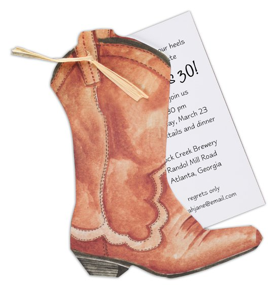 Wedding Invitation Western Boot