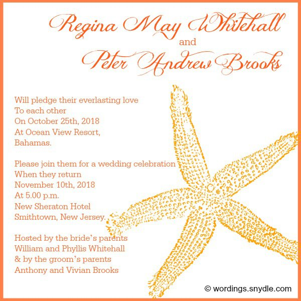 Wedding invitation text examples stopboris Images
