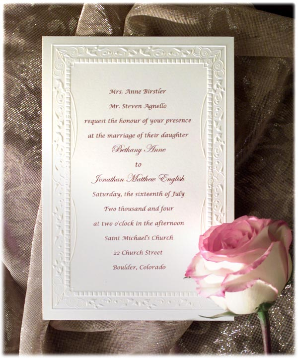 Wedding Invitation Wording Poems