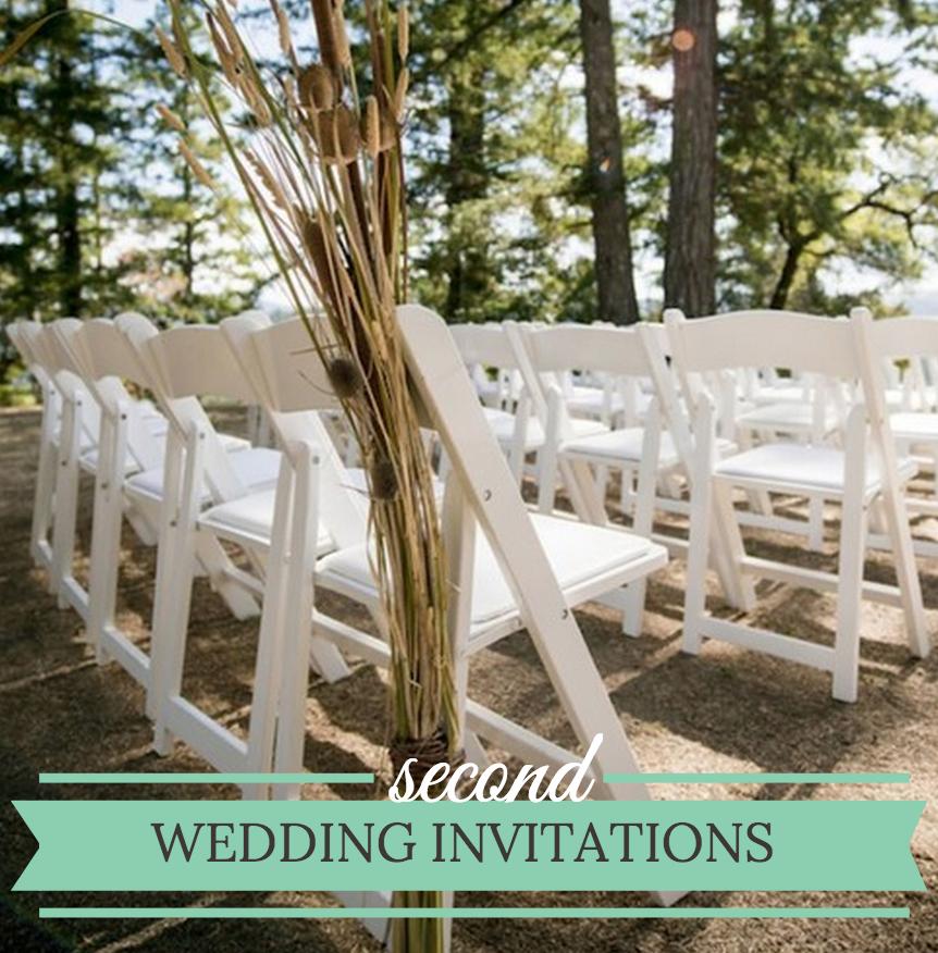 Simple Second Wedding Ideas: Unique Wedding Invitation Wording Second
