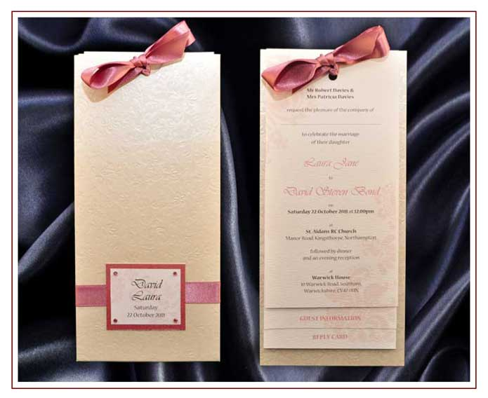 Wedding Invitations Pocket Style Uk