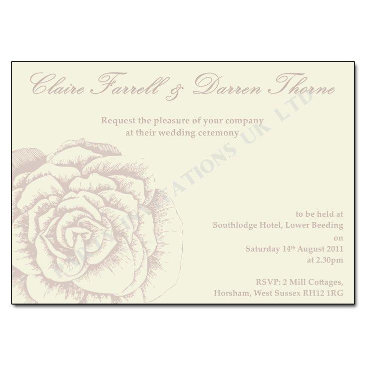 Wedding Invitations To Print Yourself Uk
