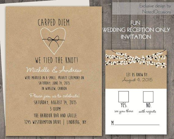 Wedding Reception Only Invitation Etsy