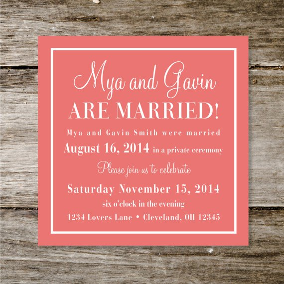Wedding Reception Only Invitations Etsy