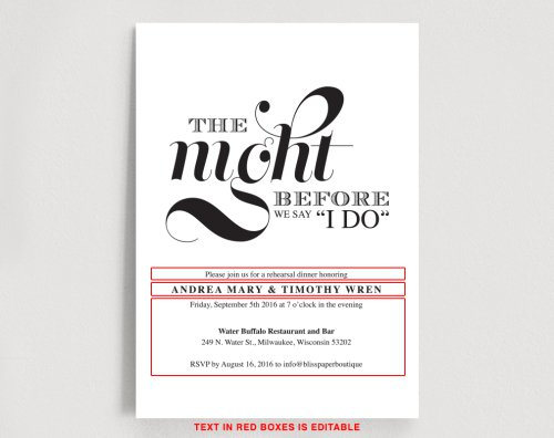 Wedding Rehearsal Dinner Invitation Templates Free