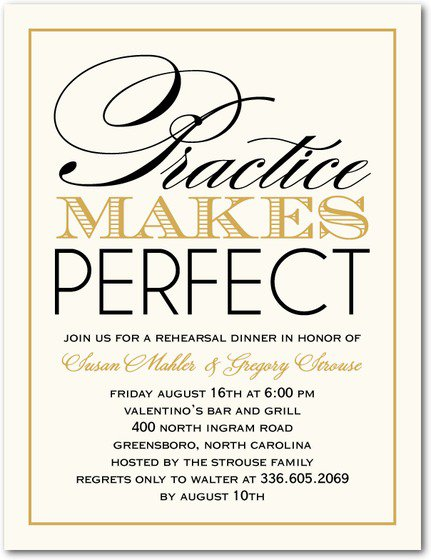 Wedding Rehearsal Dinner Invitations Etiquette