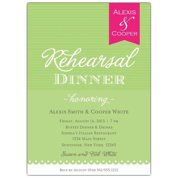 Wedding Rehearsal Dinner Invitations Postcards