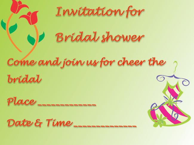 Wedding Shower Invitation Templates For Microsoft Word