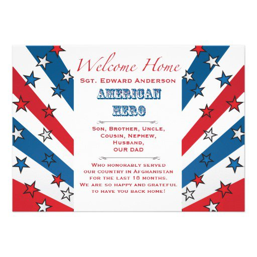 Welcome Home Party Invitation Wording