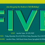 Western 5th Birthday Invitation Wording