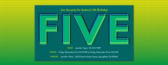 Western 5th birthday invitation wording filmwisefo