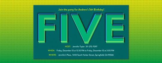 Western 5th Birthday Invitation Wording
