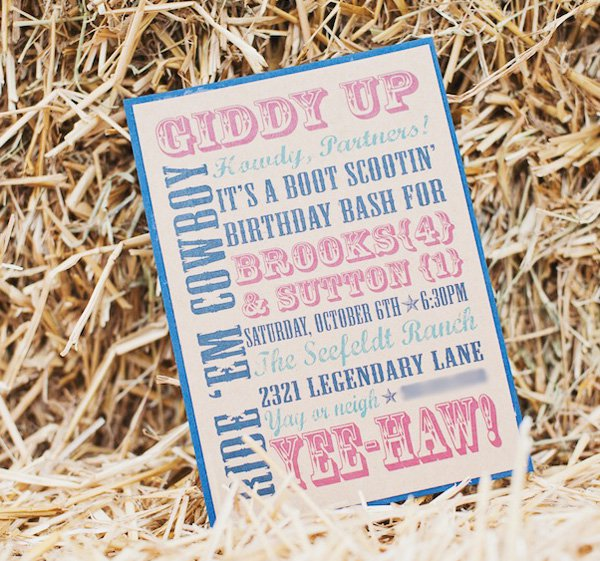 Western Theme Party Invitation Ideas
