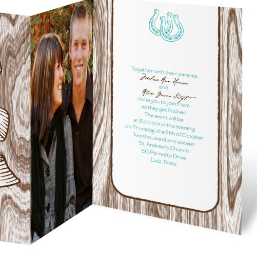 Western Wedding Invitations By Dawn