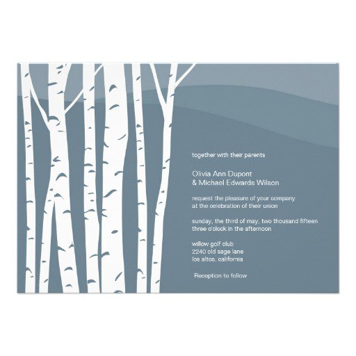 White Birch Tree Wedding Invitations