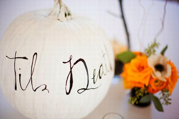 White Pumpkin Wedding Invitations