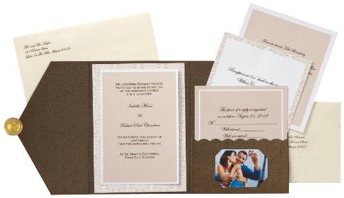 Wilton Wedding Invitations Template: Pocket Wedding Invitation Kits Wilton