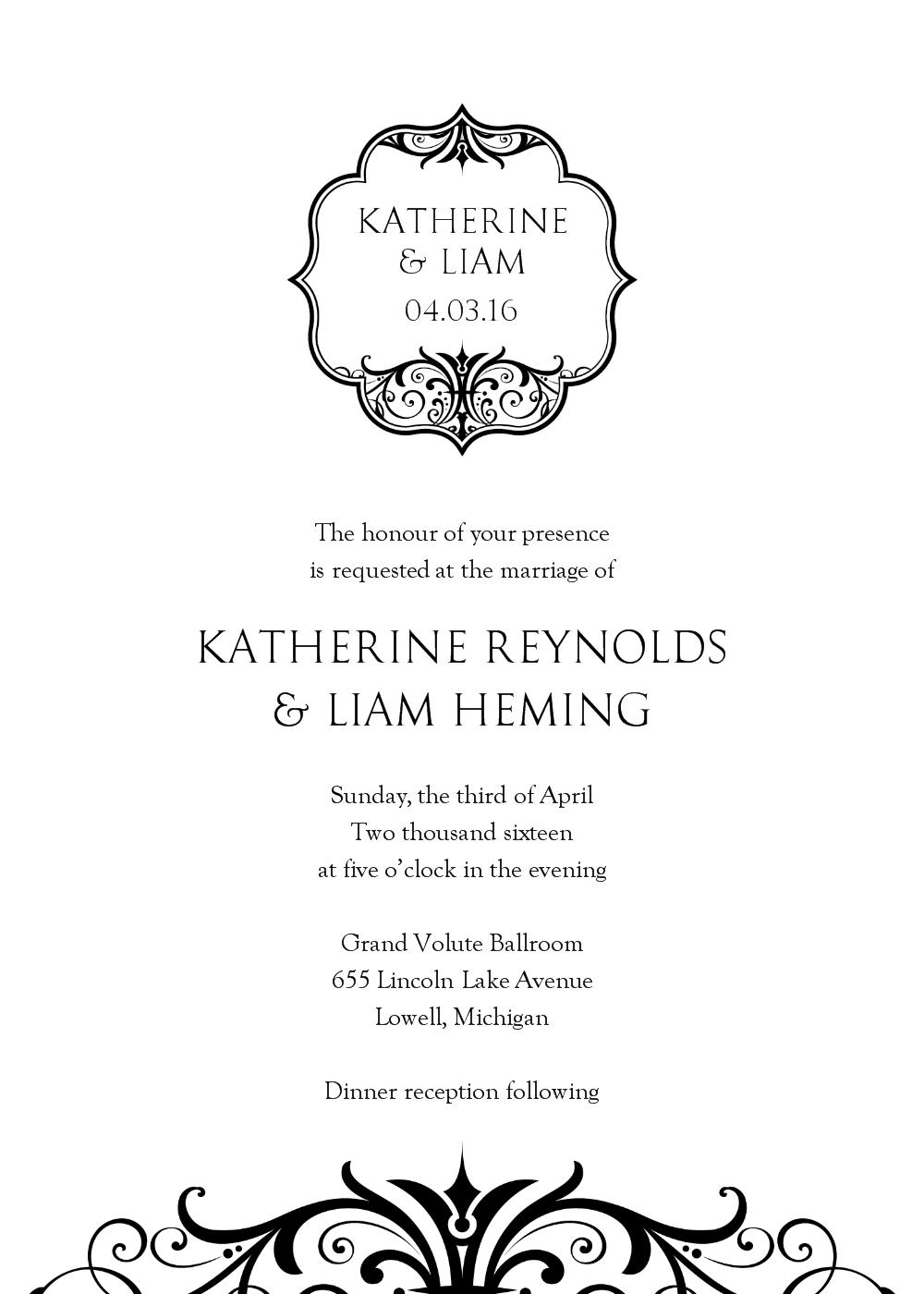 Wilton Wedding Invitation Templates